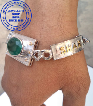 Emerald Gemstone Bracelet Designs for Men
