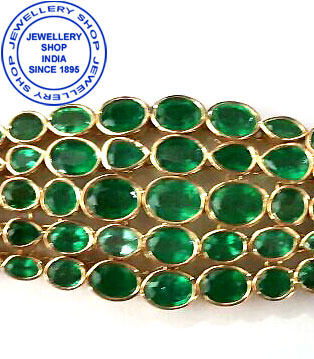 Emerald Gemstone Bracelet Designs for Ladies