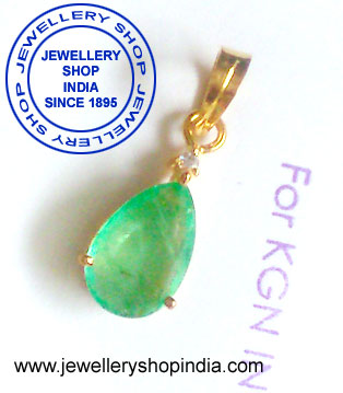 Emerald Gemstone Pendant Designs