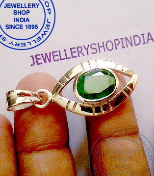 Emerald Pendant Designs in Silver for Women