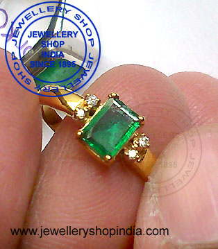 Emerald Gemstone Ring Design for Women