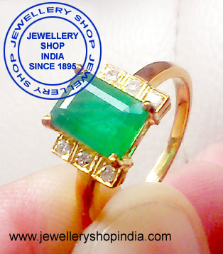 Emerlad Gemstone Ring Designs for Girls