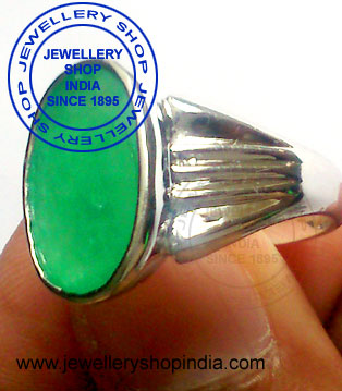 Emerald Gemstone Ring Designs in Silver for Men