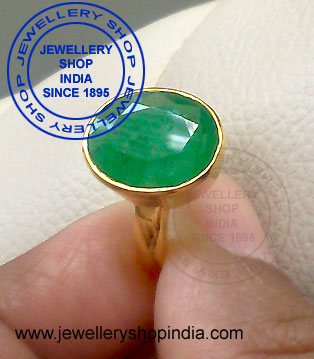 Emerald Ring Designs for Men in Gold