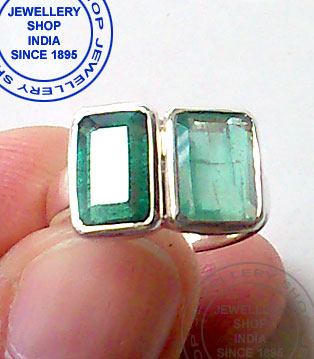Two Emerald Gemstones Ring Designs