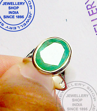 Emerald Gemstone Ring Jewellery Designs
