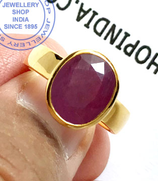 Jewellery Design Ruby Gemstone Ring in Gold