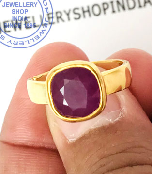 Jewellery Design Ruby Stone Ring