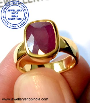 Ruby Stone in Gold Ring Design