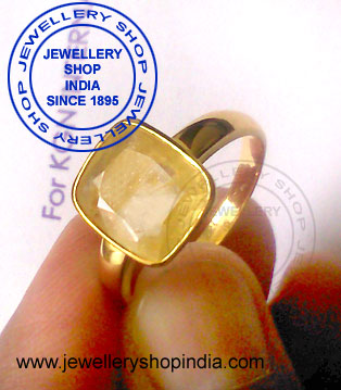 Yellow Sapphire Gemstone Ring Design for Men