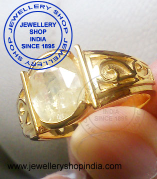 Yellow Sapphire Gemstone Ring Design