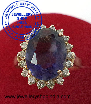 Natural blue sapphire stone ring designs for ladies.