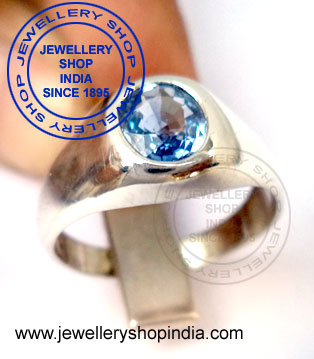 Blue Sapphire Ring for Gents