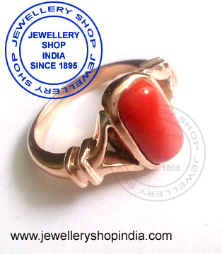 Red Coral Birthstone Gemstone Ring Design