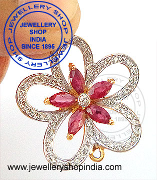 Natural Diamond Ring with Ruby Gemstone Designs