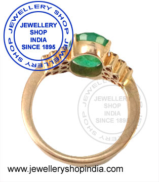 Emerald and diamonds ring designs for ladies.