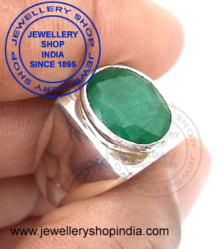 Emerald Gemstone Ring Designs for man