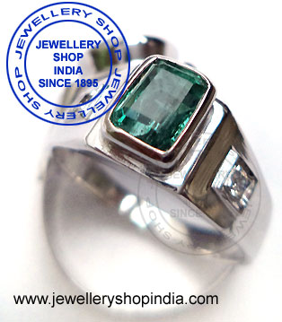 Emerald Gemstone Ring for Gents