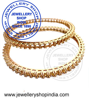 Gold Bangles Designs in Emerald Ruby Sapphire
