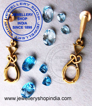 Gold Earring Designs in Natural Gemstone