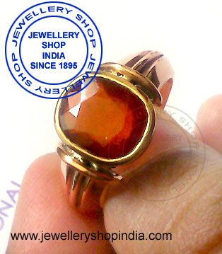 Gomed Gemstone Ring Designs