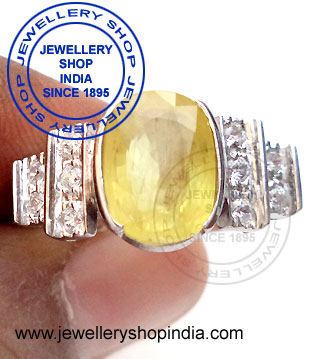 Pukhraj Gemstone Birthstone Ring Designs
