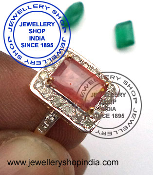 Ruby Diamond Gemstone Ring Design