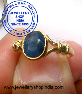 Neelam Birthstone Ring for Woman in Gold