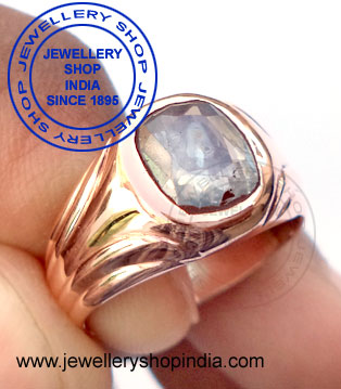White Sapphire Gemstone Ring for Men