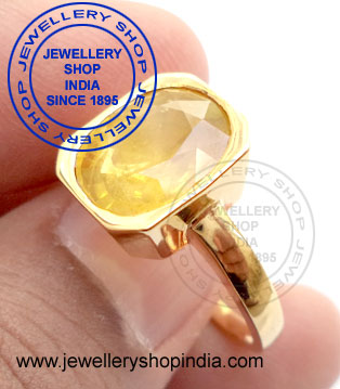 Yellow Sapphire Gemstone Ring for Men