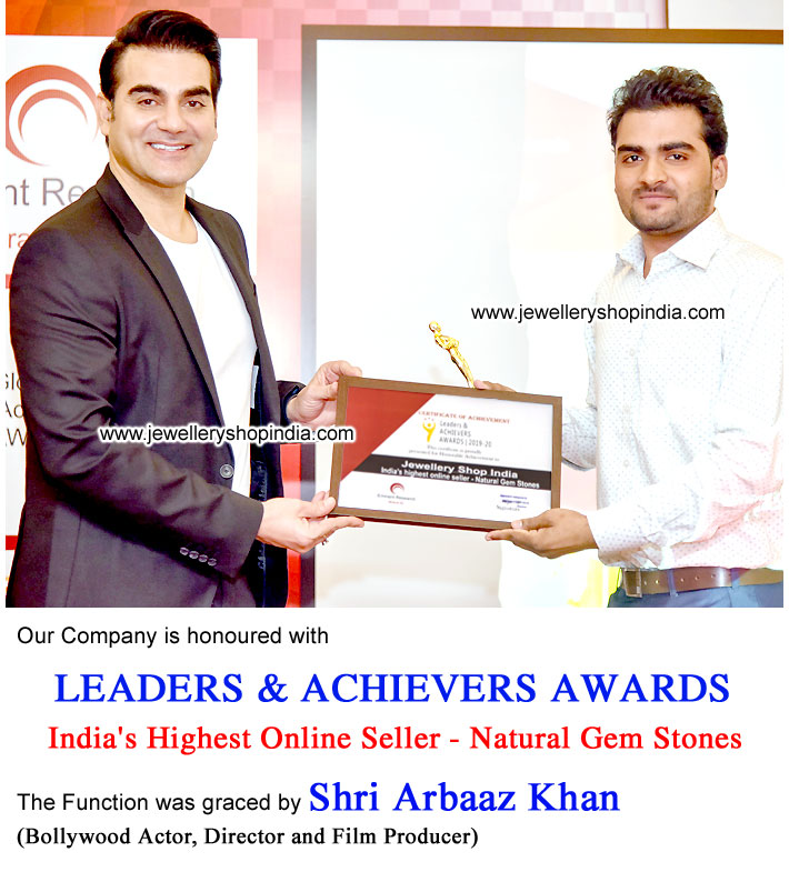 Award Arbaaz Khan Mumbai for India's Highest Online Seller of Natural Gem Stones