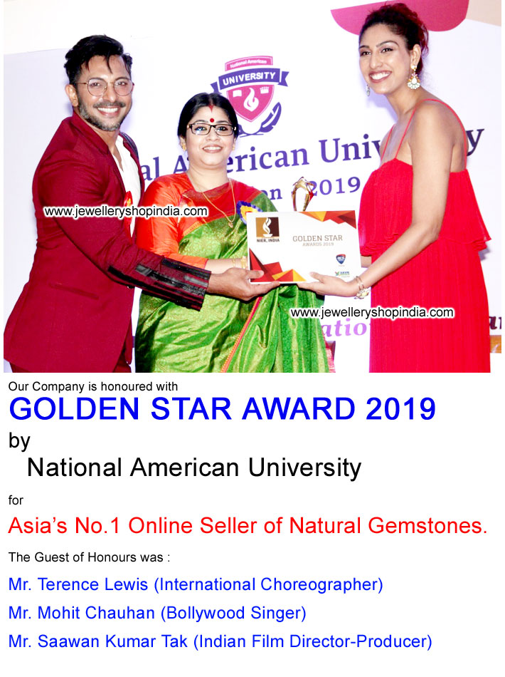 Best Gemstone Seller Award Golden Star Award by Terence Lewis, Mohit Chauhan, Saawan Kumar Tak in Mumbai