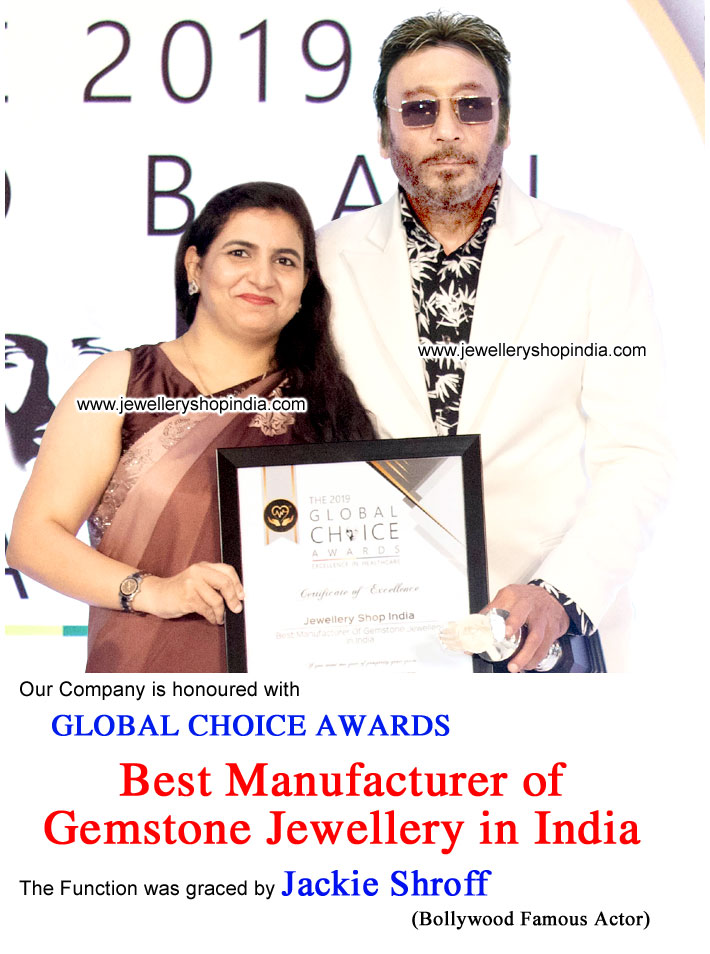 Global Choice Award – Best Manufacturer of Gemstone Jewellery in India