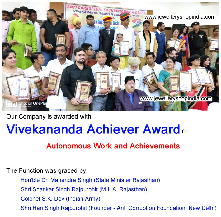 Vivekananda Achiever Award for Top Gemstone Seller