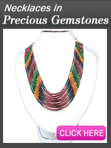 precious product necklace semi and img strands stone of six gems